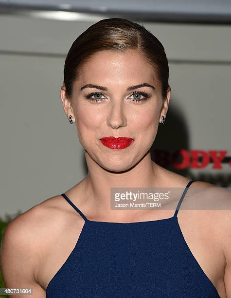 Professional soccer player Alex Morgan attends BODY at ESPYs at Milk Studios on July 14 2015 in Hollywood California