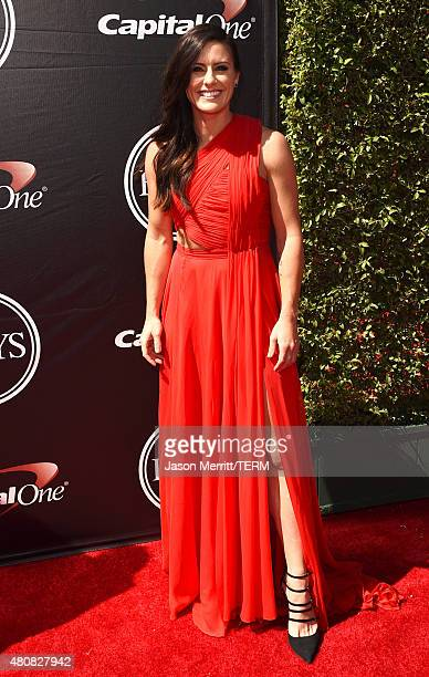 Professional soccer player Ali Krieger attends The 2015 ESPYS at Microsoft Theater on July 15 2015 in Los Angeles California