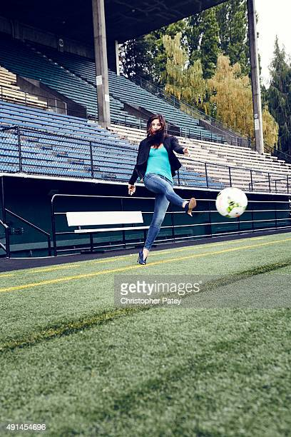 Professional soccer player and Olympian Hope Solo is photographed for The Hollywood Reporter on July 24 2015 in Seattle Washington