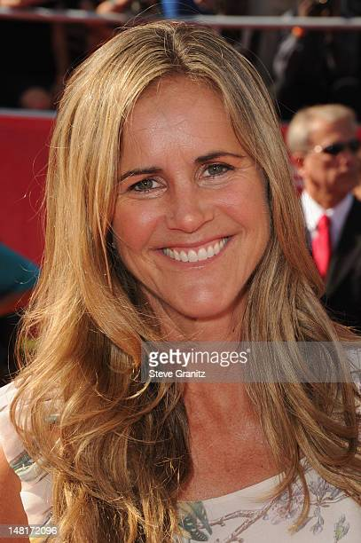 Professional soccer player Brandi Chastain arrives at the 2012 ESPY Awards at Nokia Theatre LA Live on July 11 2012 in Los Angeles California