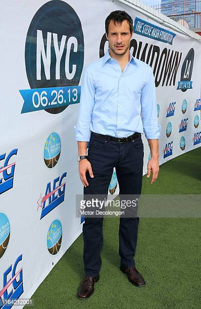 Professional soccer player Carlo Cudicini of the Los Angeles Galaxy attends the announcement for professional basketball player Steve Nash's charity...