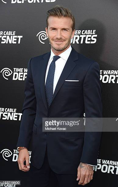 Professional soccer player David Beckham attends Time Warner Sports Celebrates Launch Of Time Warner Cable Sportsnet And Time Warner Cable Deportes...