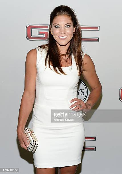 Professional soccer player Hope Solo attends ESPN the Magazine 5th annual Body Issue party at Lure on July 16 2013 in Hollywood California