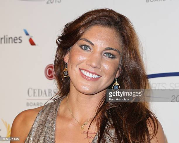 Professional Soccer Player Hope Solo attends the 28th Annual Sports Spectacular Anniversary Gala at the Hyatt Regency Century Plaza on May 19 2013 in...