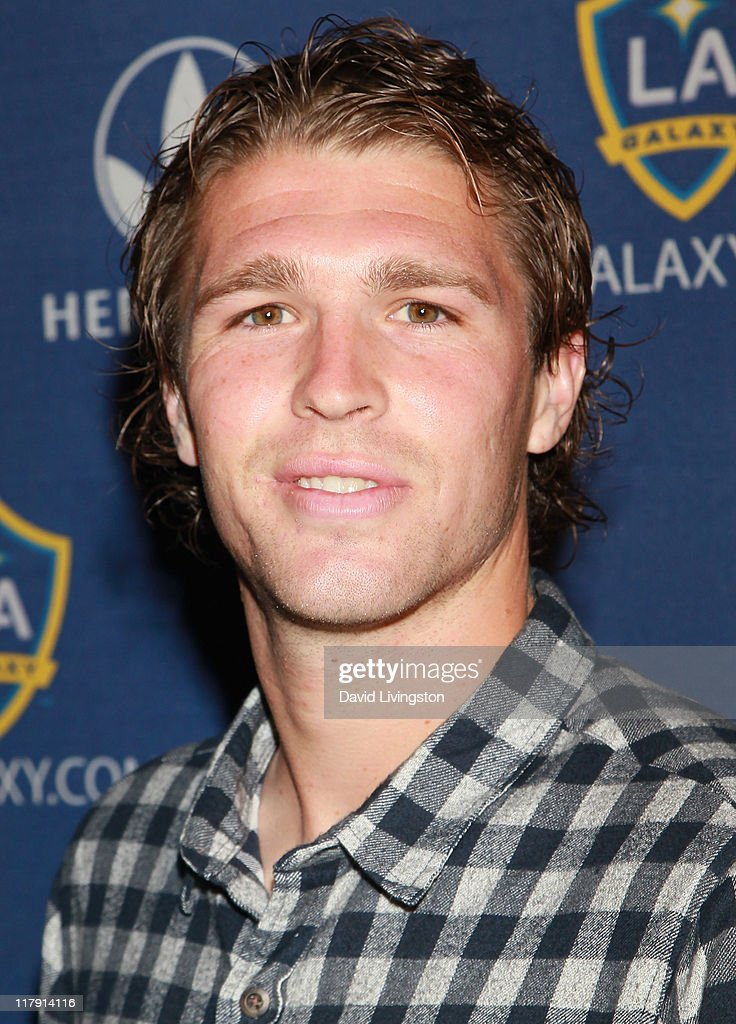 Professional soccer player Kyle Davies attends the LA Galaxy Fourth of July Weekend Kick Off Party at L.A. LIVE on July 1, 2011 in Los Angeles, California.