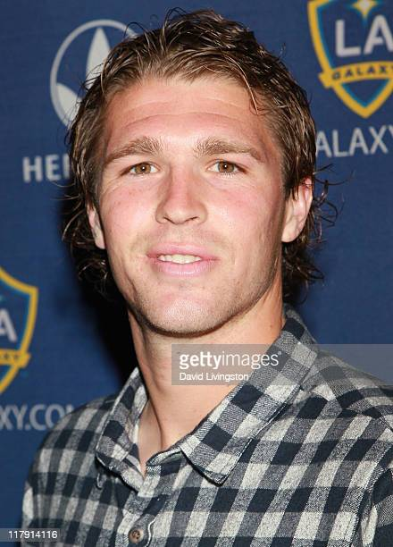 Professional soccer player Kyle Davies attends the LA Galaxy Fourth of July Weekend Kick Off Party at LA LIVE on July 1 2011 in Los Angeles California