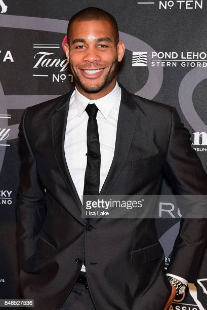 Professional Soccer player Oguchi Onyewu attends the Erving Golf Classic Black Tie Ball sponsored by Delta Airlines Pond LeHocky Law with cocktails...