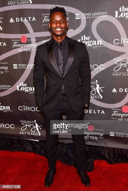 Professional Soccer players Maurice Edu attends the Erving Golf Classic Black Tie Ball sponsored by Delta Airlines Pond LeHocky Law with cocktails...