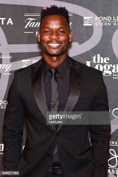 Professional Soccer players Maurice Edu attends the Erving Golf Classic Black Tie Ball sponsored by Delta Airlines & Pond LeHocky Law, with cocktails...