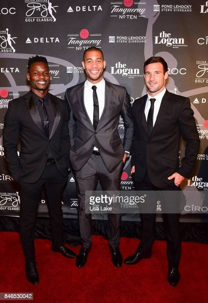 Professional Soccer players Maurice Edu Oguchi Onyewu and Chris Pontius attend the Erving Golf Classic Black Tie Ball sponsored by Delta Airlines...