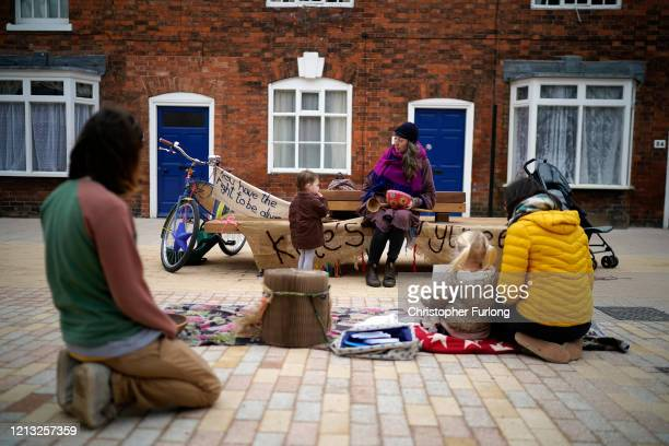 Professional story teller Kate Coleman resorts to busking outside William Shakespeare's Birthplace Museum after losing all her contracts because of...