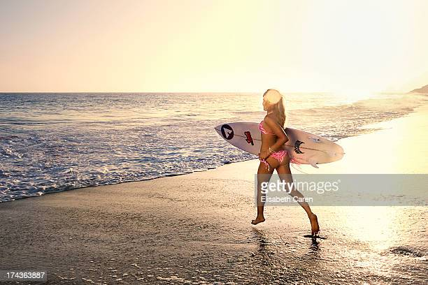 Professional surfer Anastasia Ashley is photographed for Self Assignment on May 21 2013 in Malibu California