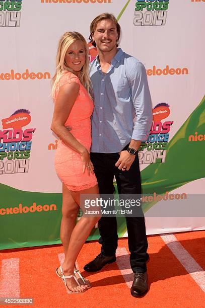 Professional Surfer Bethany Hamilton and Adam Dirks attend Nickelodeon Kids' Choice Sports Awards 2014 at UCLA's Pauley Pavilion on July 17 2014 in...