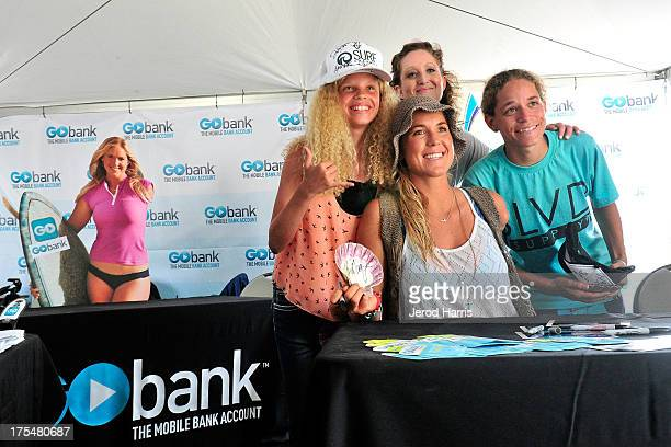 Professional surfer Bethany Hamilton signs autographs at the 2013 Ford Supergirl Pro at Oceanside Pier on August 3 2013 in Oceanside California