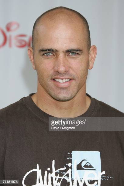 Professional surfer Kelly Slater attends A Time for Heroes Celebrity Carnival sponsored by Disney to benefit the Elizabeth Glaser Pediatric AIDS...