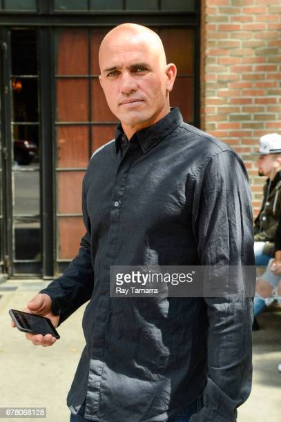 Professional surfer Kelly Slater leaves his Noho hotel on May 03 2017 in New York City