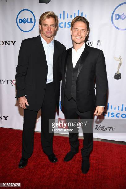 Professional surfer Laird Hamilton and actor Elijah AllanBlitz attend the Advanced Imaging Society 2018 Lumiere Awards presented by Dell and Cisco at...