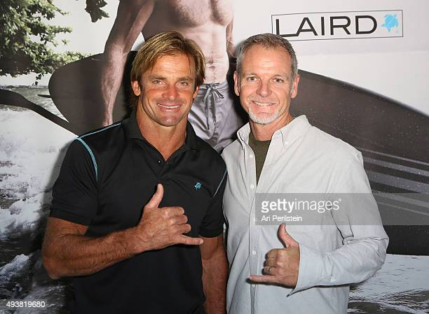 Professional surfer Laird Hamilton and President of Laird Apparel Tim Garret attend the launch of their clothing line Laird Apparel by Laird Hamilton...