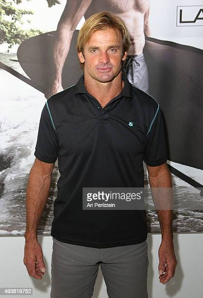 Professional surfer Laird Hamilton attends the launch of his clothing line Laird Apparel by Laird Hamilton at Ron Robinson on October 22, 2015 in...