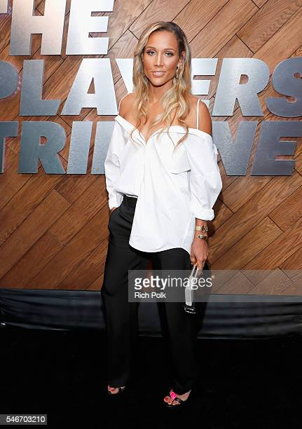 Professional tack and field athlete Lolo Jones attends The Players' Tribune Summer Party at No Vacancy on July 12 2016 in Los Angeles California