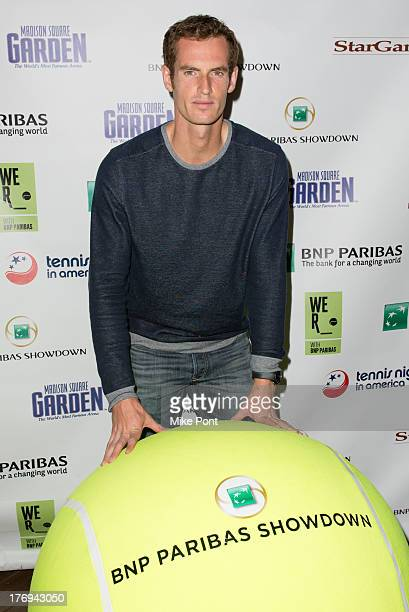 Professional tennis player Andy Murray attends the 7th Annual BNP Paribas Showdown Announcement at Local West on August 19 2013 in New York City