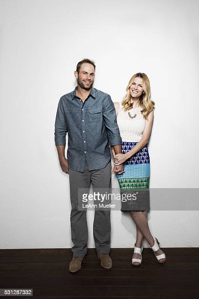 Professional tennis player Andy Roddick and wife/actress Brooklyn Decker are photographed for Austin Monthly Magazine on March 15 2016 in Austin Texas
