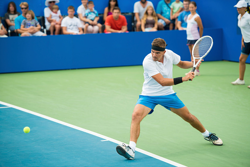 Professional Tennis Player In Action 520221047