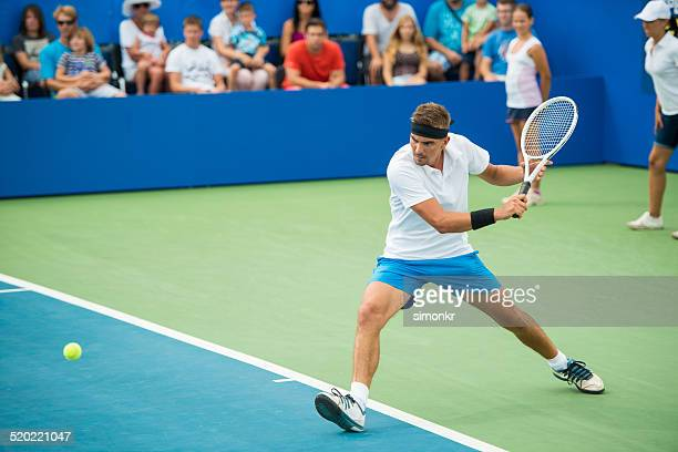 professional tennis player in action - serving sport stock pictures, royalty-free photos & images