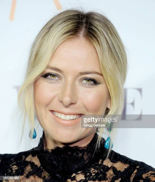 Professional tennis player Maria Sharapova arrives at the Dream For Future Africa Foundation Gala at Spago on October 24, 2013 in Beverly Hills,...