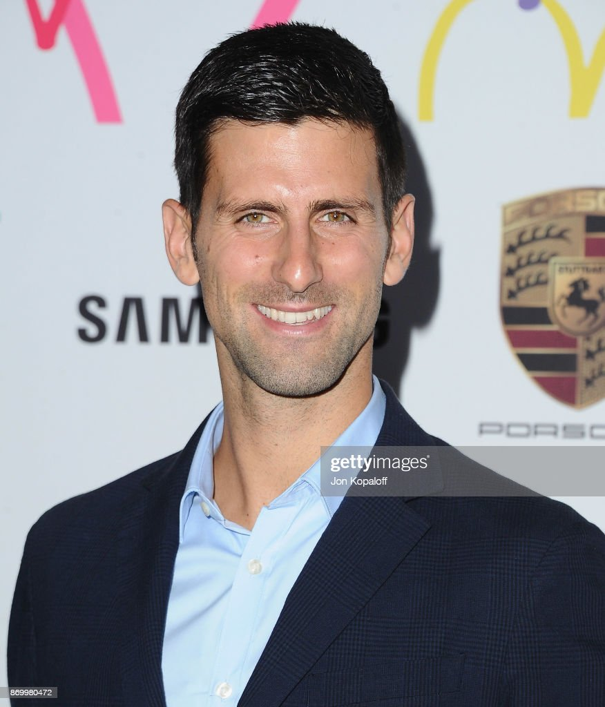 Professional tennis player Novak Djokovic arrives at Goldie's Love In For Kids at Ron Burkle's Green Acres Estate on November 3, 2017 in Beverly Hills, California.