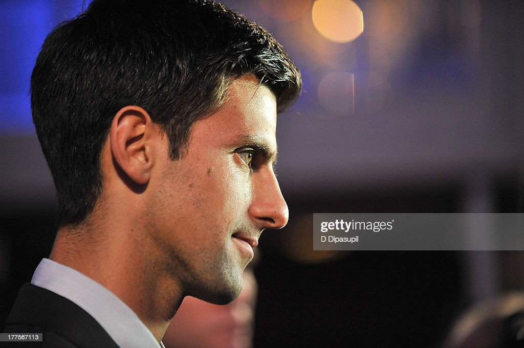 Professional tennis player Novak Djokovic attends the ATP Heritage Celebration at The Waldorf=Astoria on August 23, 2013 in New York City.