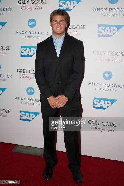 Professional tennis player Ryan Harrison arrives at the 7th Annual Andy Roddick Foundation Gala at W Hotel Austin on September 21 2012 in Austin Texas