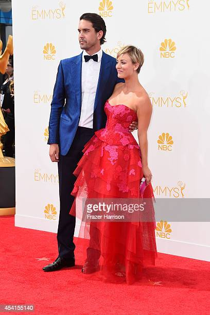 Professional tennis player Ryan Sweeting and actress Kaley CuocoSweeting attend the 66th Annual Primetime Emmy Awards held at Nokia Theatre LA Live...
