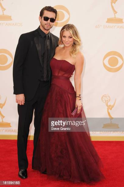 Professional Tennis Player Ryan Sweeting and actress Kaley Cuoco arrive at the 65th Annual Primetime Emmy Awards held at Nokia Theatre LA Live on...