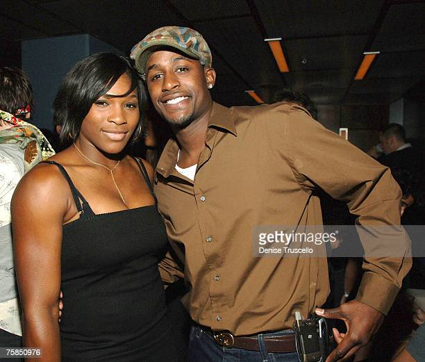 Professional tennis player Serena Williams and Jackie Long attends party in the The Pearl VIP Sky Lounge at the Palms Casino Resort on July 28 2007...