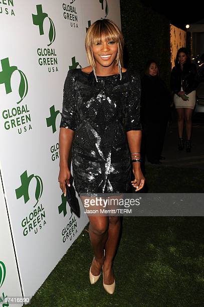 Professional tennis player Serena Williams arrives at Global Green USA's 7th Annual PreOscar Party at Avalon on March 3 2010 in Hollywood California