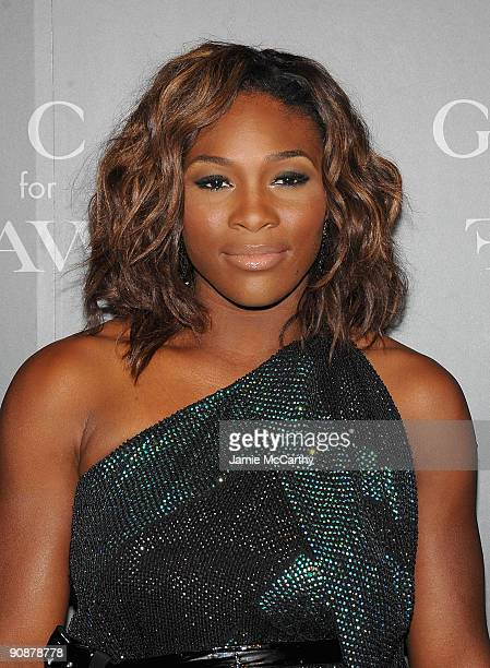 Professional tennis player Serena Williams attend a cocktail party benefitting FFAWN at Gucci Fifth Avenue on September 16 2009 in New York City