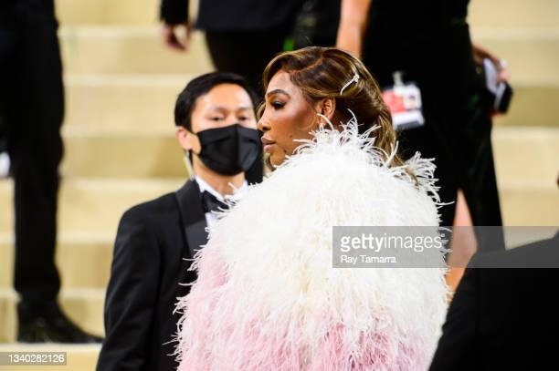 Professional tennis player Serena Williams attends the 2021 Met Gala Celebrating In America: A Lexicon Of Fashion at the Metropolitan Museum Of Art...