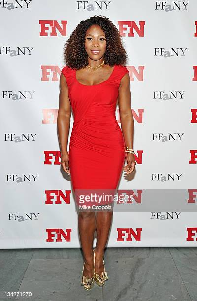 Professional tennis player Serena Williams attends the 25th Annual Footwear News Achievement Awards at the Museum of Modern Art on November 29, 2011...