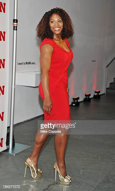 Professional tennis player Serena Williams attends the 25th Annual Footwear News Achievement Awards at the Museum of Modern Art on November 29 2011...