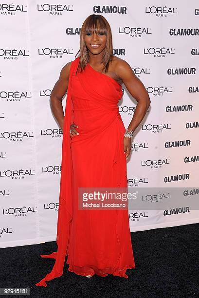 Professional Tennis Player Serena Williams attends the Glamour Magazine 2009 Women of The Year Honors at Carnegie Hall on November 9 2009 in New York...