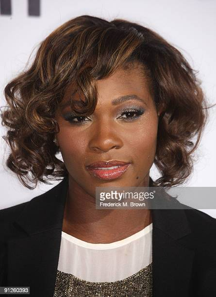Professional tennis player Serena Williams attends the 'Whip It' film premiere at Grauman's Chinese Theatre on September 29 2009 in Los Angeles...