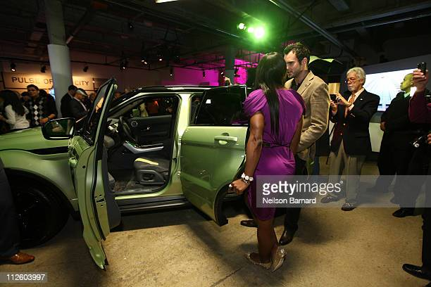 Professional tennis player Serena Williams was on hand at the NYC launch of the 2012 Range Rover Evoque at Highline Stages on April 19 2011 in New...