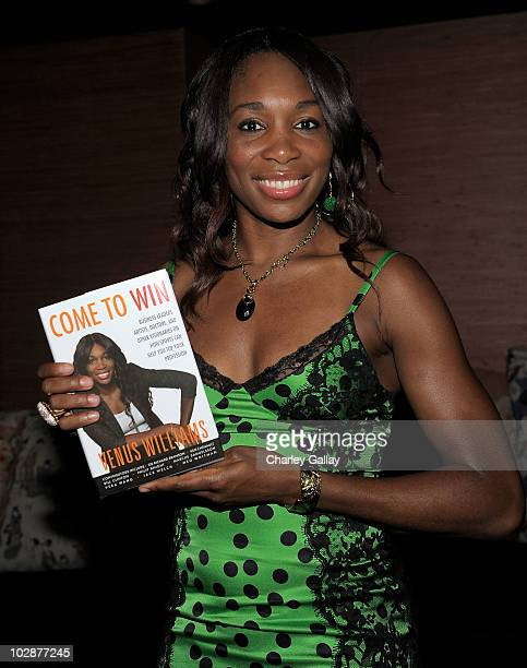 Professional tennis player Venus Williams launches her book 'Come To Win' with Los Angeles Confidential Magazine at the Geisha House on July 13 2010...