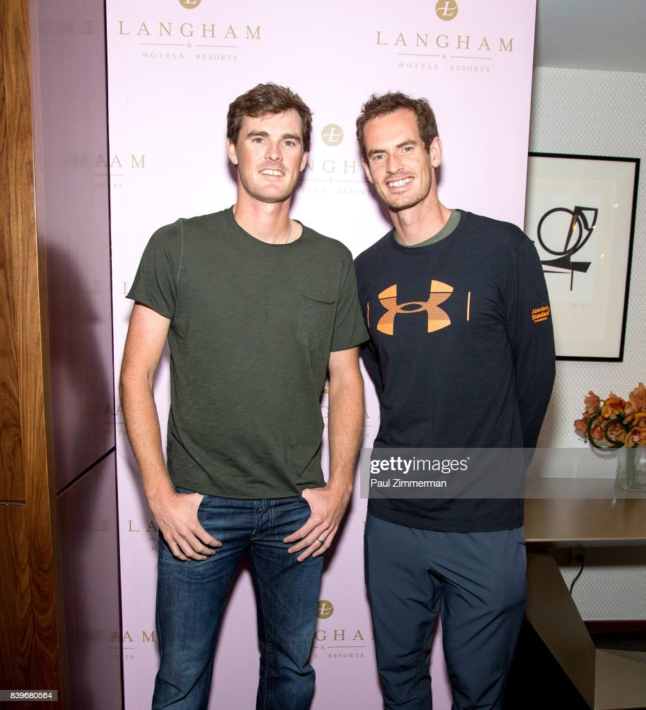 US Open Weekend: Andy Murray And Jamie Murray Introduce The New Roche Bobois Presidential Suite At Langham Place, New York