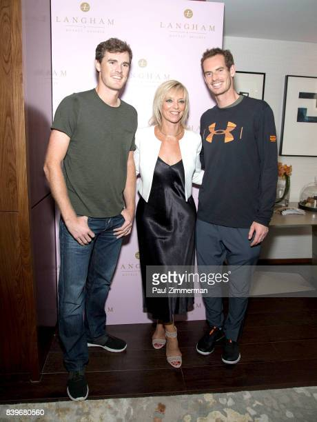 Professional tennis players Jamie Murray Executive Fashion and Beauty Editor Harper's Bazaar Avril Graham and Andy Murray attend US Open Weekend to...