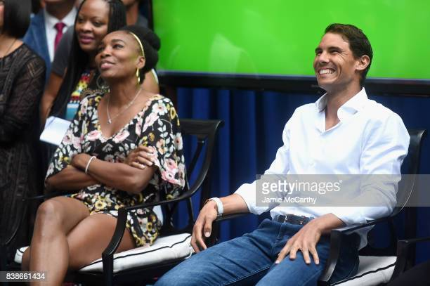 Professional tennis players Venus Williams and Rafael Nadal attend the 2017 Lotte New York Palace Invitational at Lotte New York Palace on August 24...