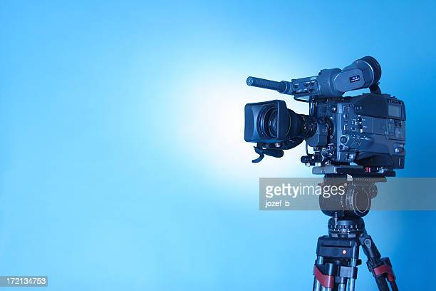 professional tv cam - 3 (cl. path) - television camera stock pictures, royalty-free photos & images