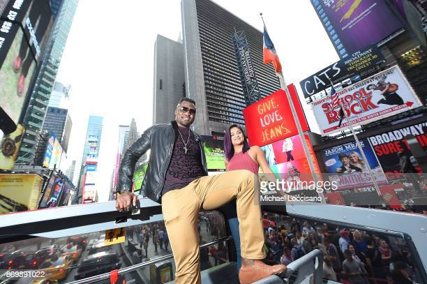 Professional UFC fighters Francis Ngannou And Cynthia Calvillo take an ROF Ride in honor of UFC's return To MSG on November 3 2017 in New York City