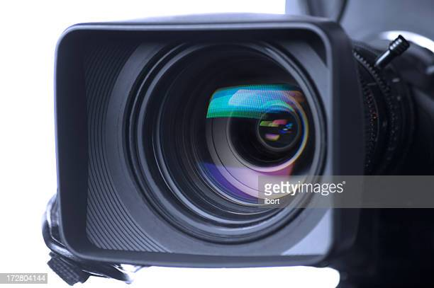 professional video camera lens - lens optical instrument stock photos and pictures